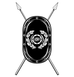 shield and crossed spears vector image