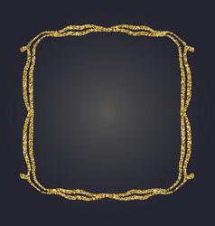 art nouveau gold glitter decorative rectangle vector image vector image
