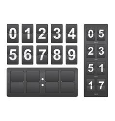 Countdown timer Black mechanical scoreboard panel vector image
