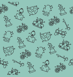 fatherhood icons set pattern vector image vector image