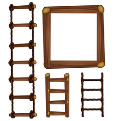ladders and wooden frame vector image