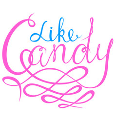 like candy - halloween party hand drawn lettering vector image