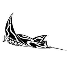 manta ray tribal tattoo vector image vector image