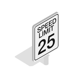 Speed limit road sign icon isometric 3d style vector image vector image