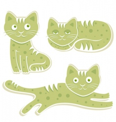 sweet cats vector image vector image
