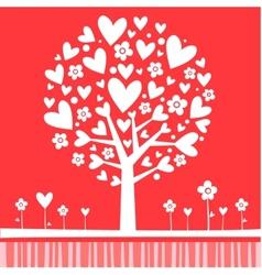 Tree made of hearts vector