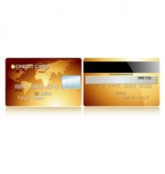 card credit design vector image