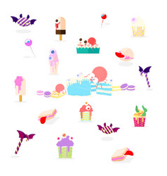 halloween dessert vector image vector image