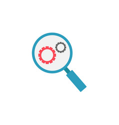 research optimization flat icon vector image vector image