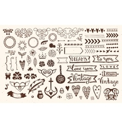 Vintage Style elements vector image