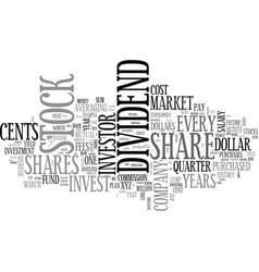 when to invest in the stock market text word vector image vector image