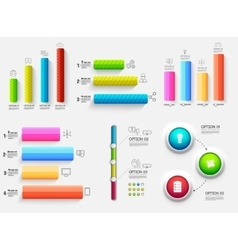 3d chart diagram business presentation Realistic vector