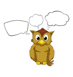 A thinking owl vector image