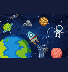 Astronaut in thr space vector