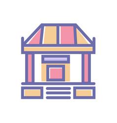 bank perfect icon sign symbol bank 64x64 perfect vector image