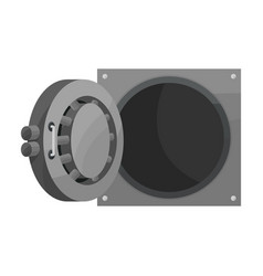Bank safe iconcartoon icon isolated vector
