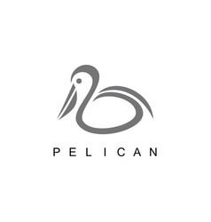 bird pelican logo vector image