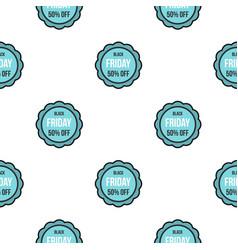Black friday sale sticker pattern flat vector