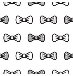 Bow tie little gentleman seamless pattern vector