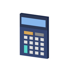 Calculator symbol flat isometric icon or logo 3d vector