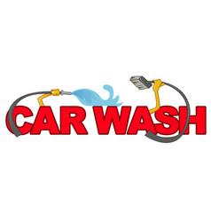 car wash symbol isolated on white vector image