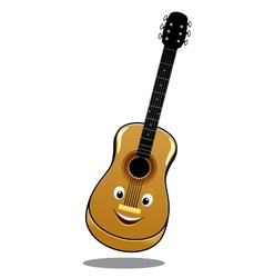 Cartoon wooden country guitar vector