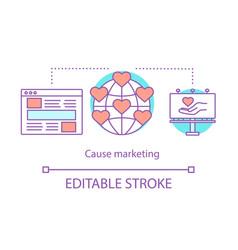 cause marketing concept icon vector image