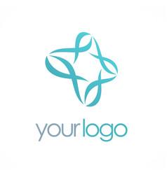 circle abstract loop business logo vector image