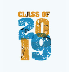 Class 2019 concept stamped word art vector
