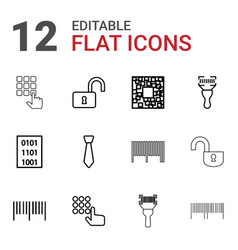 Code icons vector