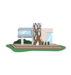 Contemporary architecture villa building from vector