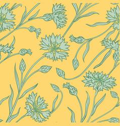Cornflower pattern vector