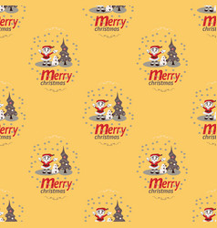 cute christmas seamless pattern background vector image