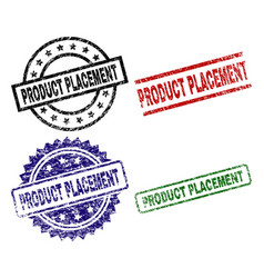 Damaged textured product placement seal stamps vector