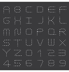 Dashed line Alphabet Set vector