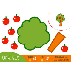 education paper game for children apple tree vector image