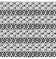 Ethnic geometric pattern of diamonds and vector