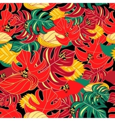 Exotic pattern and jungle frogs vector