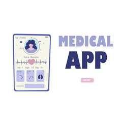 Flat medical diagnosis mobile application for vector