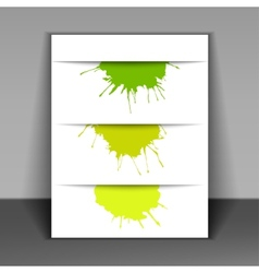 flyer with colored spots of paint vector image