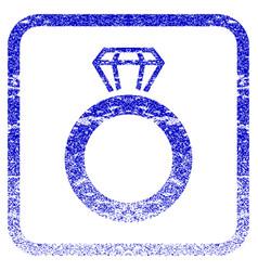 Gem ring framed textured icon vector