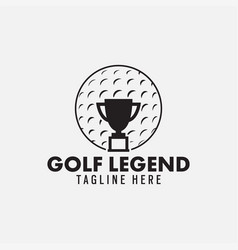 golf legend logo design template isolated vector image
