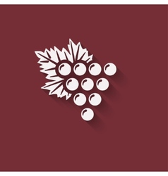 grapes wine design element vector image