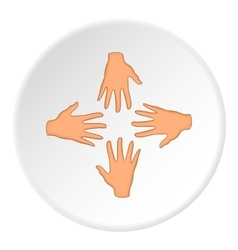 Hand icon flat style vector image