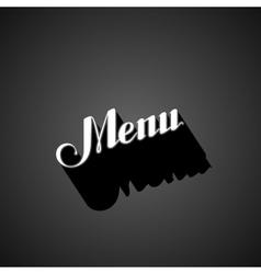 handwritten Menu retro label vector image