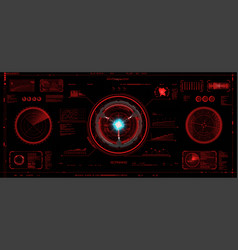 head-up interface set in hud style vector image