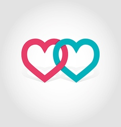 Hearts linked vector