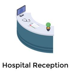 Hospital reception vector