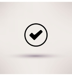 Icon of check box Isolated vector