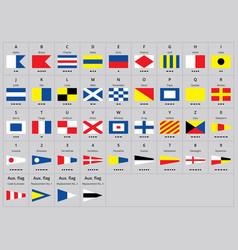 International maritime signal nautical flags vector